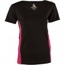 Tricou sport negru/roz Active Wear, la baza gatului, de dama Germag