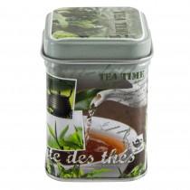 Cutie metalica pentru depozitarea ceaiului, capac, design by Dora Papis, 6 X 4,5 X 4.5 cm, multicolora, 84817 Germag