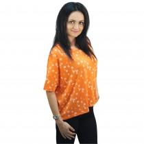 Tricou portocaliu cu buline, dama, Bluhmod Germag
