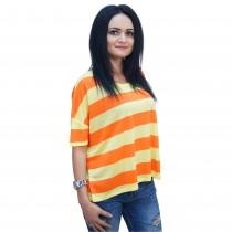 Tricou in dungi, dama, galben cu portocaliu, Bluhmod Germag
