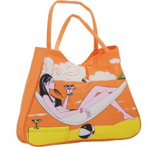 """Geanta de plaja """"relax"""", Donna, portocalie Germag"""