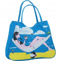 "Geanta de plaja ""relax"", Donna, albastra Germag"