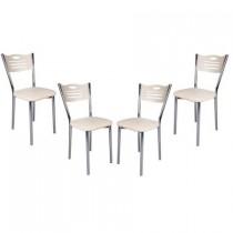Set 4 scaune de bucatarie piele ecologica Akca