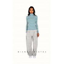Pantalon larg Bianca Hristea cu detalii S