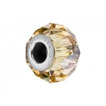 Accesoriu bratara tip Pandora - Charm Swarovski Briolette Gold + Cutie Cadou Criando Bijoux