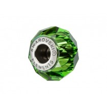 Accesoriu bratara tip Pandora - Charm Swarovski Briolette Fern Green + Cutie Cadou Criando Bijoux