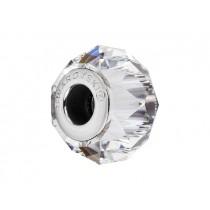 Accesoriu bratara tip Pandora - Charm Swarovski Briolette Crystal + Cutie Cadou Criando Bijoux