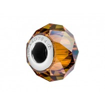 Accesoriu bratara tip Pandora - Charm Swarovski Briolette Copper + Cutie Cadou Criando Bijoux