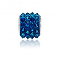 Accesoriu bratara tip Pandora - Charm Swarovski Pave Electric Blue + Cutie Cadou Criando Bijoux