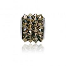 Accesoriu bratara tip Pandora - Charm Swarovski Pave Metallic Gold + Cutie Cadou Criando Bijoux