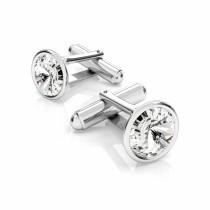 Butoni argint cu Swarovski Crystals Rivoli Crystal Clear 12mm (Butoni Criando Bijoux) + CADOU Laveta curatat bijuteriile din argint Criando Bijoux