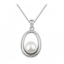 Pandantiv argintiu cu perla alba TRENDWORLD