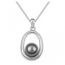 Pandantiv argintiu cu perla gri TRENDWORLD