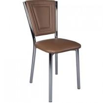Set 4 scaune Efes piele ecologica maro