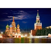 Puzzle Castorland - 1000 de piese - Piata Rosie noaptea, Moscova  SARRA PUZZLE