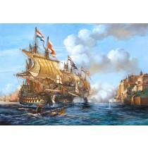 Puzzle Castorland - 2000 de piese - Battle of Porto Bello, 1737  SARRA PUZZLE