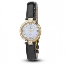 Ceas de dama, Swiss Made, Auriu, Curea de piele, 66 Diamante Christina Diamonds SRL