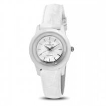 Ceas de dama, Swiss Made, Argintiu-alb, Curea de piele, 1 Diamant Christina Diamonds SRL