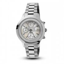 Ceas de dama, Swiss Made, Chrono, Argintiu, Bratara otel inoxidabil, 1 Diamant Christina Diamonds SRL