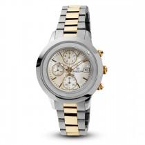 Ceas de dama, Swiss Made, Chrono, Bi-color, Bratara otel inoxidabil, 1 Diamant Christina Diamonds SRL
