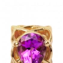 Talisman, Pear Amethyst, Argint placat cu aur galben 18 K Christina Diamonds SRL