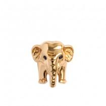 Talisman, Elephant, Argint placat cu aur galben 18 K Christina Diamonds SRL