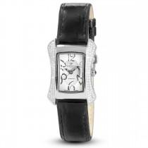 Ceas de dama, Swiss Made, Argintiu, Curea de piele, 117 Diamante Christina Diamonds SRL