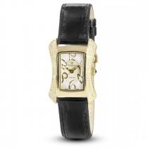 Ceas de dama, Swiss Made, Auriu, Curea de piele, 117 Diamante Christina Diamonds SRL