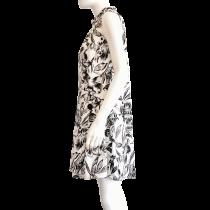 Rochie KVINNA Blak&White Flowers 2,alb/ negru,S KVINNA