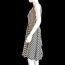 Rochie KVINNA Black&White Stripes,alb/ negru,S KVINNA