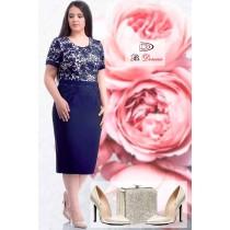 Rochie eleganta cu dantela Julia disponibila pe marimi mari