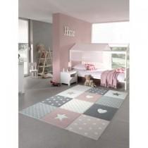 Covor Merinos, Pastel Kids 20339 255-Pink 160 x 230 cm, densitate covor 3 KG/m², grosime covor 13 mm, numar noduri pe m² 290000Adaugă nume produs