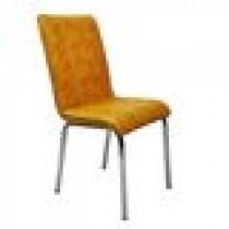 Set 4 scaune Pedli Almera tapitate piele ecologica galbene
