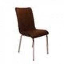 Set 4 scaune Pedli Almera tapitate piele ecologica maro