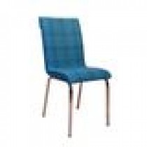Set 4 scaune Pedli Ekose tapitate piele ecologica albastru