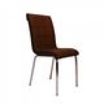 Set 4 scaune Pedli Ekose tapitate piele ecologica maro