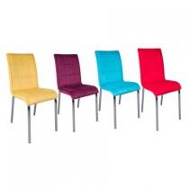Set 4 scaune Pedli karma tapitate material textil multicolor
