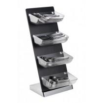 Suport etajat (dispenser) pentru prezentare 26x18xH57.5 cm AdHoreca