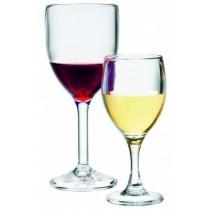 Pahar apa/vin, cu picior, policarbonat, 300 ml AdHoreca