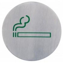 Semn indicator loc pentru fumat/fumatori (din inox),  Ų 7.5 cm AdHoreca