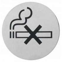 Semn indicator pentru nefumatori (din inox),  Ų 7.5 cm AdHoreca