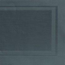 Napron PVC culoare neagra, 45 x 33 cm cadre gri AdHoreca