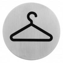 Semn indicator pentru garderoba (din inox),  Ų 7.5 cm AdHoreca