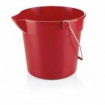 Galeata PP rosie, 10 litri AdHoreca