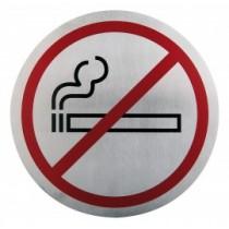 Semn indicator pentru nefumatori (din inox),  Ų 16 cm AdHoreca