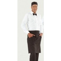 Sort mediu unisex, model Positano, culoare negru-dungat AdHoreca