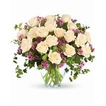 Buchet cu 19 trandafiri albi - Alb Roial  Roflora