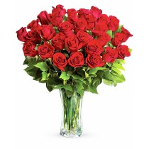 Buchet cu 29 trandafiri rosii - Cantecul Dragostei Roflora
