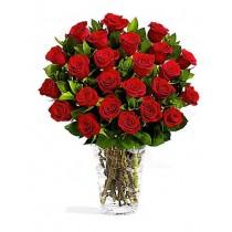 Buchet din 23 trandafiri rosii - Doar rosii Roflora