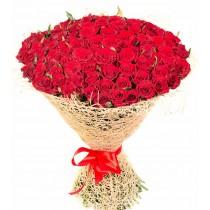 Buchet din 101 trandafiri rosii - Exquisite Red Rose  Roflora